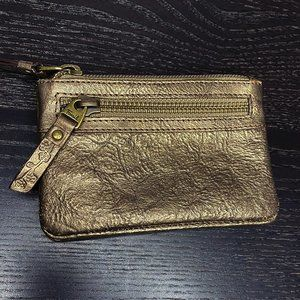 Fossil Soft Leather Wallet - Gold